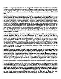 napoleon is a very manipulative character gcse english marked page 1 zoom in