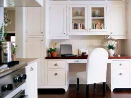 Small Picture taller cabinets on one side Kitchen Desk Ideas kitchen