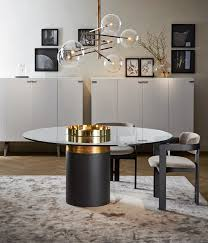 Round crystal living room table haumea t by gallotti&radice design