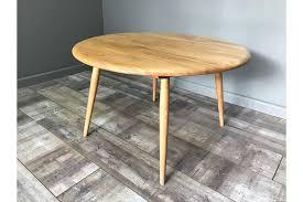 nice retro ercol coffee table round vintage light elm blonde side end lamp vinterior