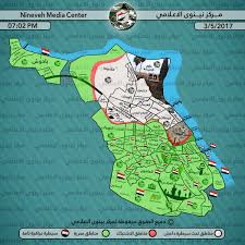 nineveh media center map of mosul for today  isisliveuamapcom