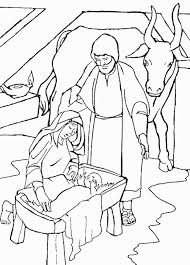 Jezus Maria En Jozef In De Stal Kleurplaat Jouwkleurplaten