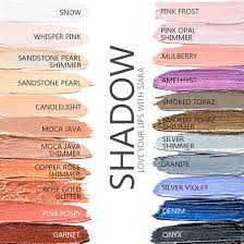 Shadowsense Color Chart 2018 Eyeshadow Lovely Lifestyle