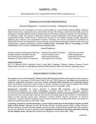 Senior Management Resume Examples Senior Accounting Professional Resume Example Accounting 18