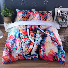 2 ethnic elephant bedding set bohemian printed duvet cover set and pillow sham mandala bedclothes bed linen twin queen luxury comforter set bedding sets