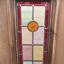 7 panel bullseye stained glass door