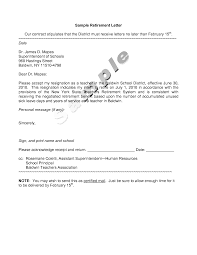 Examples Of Retirement Letters Of Resignation Retirement Letter