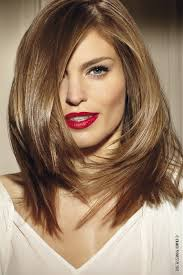 a long glossy side swept bob is perfect for a square face shape the side sweep breaks ups the boxy outline of the face and the side parting draws