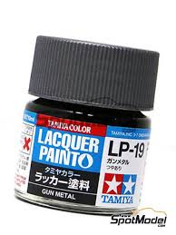 Tamiya Lacquer Paint Chart Gun Metal Lp 19 1 X 10ml Lacquer Paint Manufactured By Tamiya Ref Tam82119 Also 45206306 And 82119