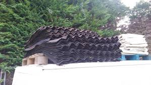 coroline roofing corrugated bitumen roof sheet black approx 35 full sheets and 35 3 4 rrp 15 each