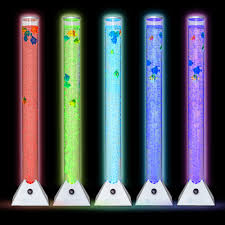 Colour Changing Tube Light Details About Novelty Colour Changing Led Bubble Lamp Tube Floor Tower Sensory Mood Light Fish