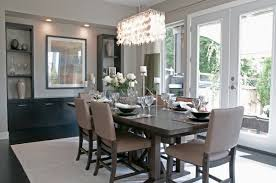 Rectangular Dining Room Lighting Decoration Contemporary Dining Room With Round Crystal