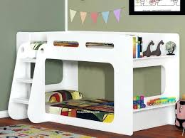 white shorty modern bunk beds with shelf uk