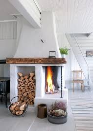 Fireplace In The Center Of The Home Scandinavian Tradition