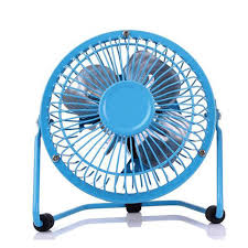 portable metal 4 inch small desk fan usb mini fans quiet operation for pc