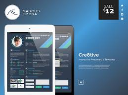 Modern Digital Resume Design Cre8tive Interactive Resume Cv By Marcus Embra On Dribbble