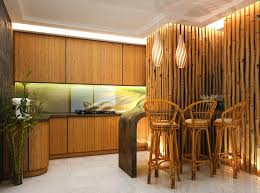 Creative Idea:Decorative Modern Bamboo Wall Lamp Kitcehn Design With Brown  Bamboo C=kitceb