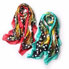 Designer Silk Scarves Us 59 99 2019 Spring Luxury Silk Scarf Women New Pineapple Designer Print Soft Silk Foulard Brand Shawls Wraps Plus Size 10pcs Lot In Womens