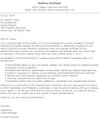 How To Write A Good Phlebotomy Cover Letter