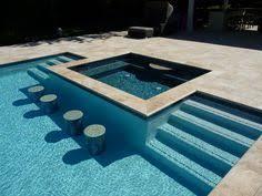 Raised Outdoor Spa Infinite Edge Square Spa Hot Tub Tanning