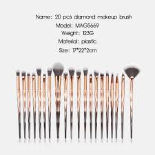 20 diamond handle eye makeup brush eye shadow brush beauty tools mag5669 multi c
