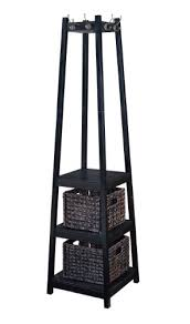 Coat Rack With Storage Baskets Home to Office Solutions Welcome Home Entryway Coat Rack Tower with 7