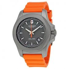 victorinox i n o x grey dial men s orange rubber men s watch victorinox i n o x grey dial men s orange rubber men s watch 241758