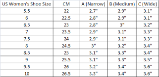 How To Find Your Shoe Size Width Yumo Pro Shop Racquet