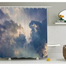 Ambesonne Nature <b>Rain</b> Storm Clouds <b>Sky Shower</b> Curtain <b>Set</b> ...