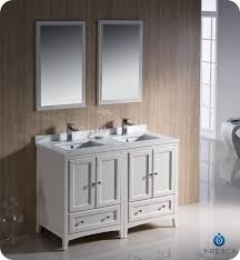 54 inch vanity double sink. fresca fvn20-2424aw oxford 48 inch antique white traditional double sink bathroom vanity 54 l