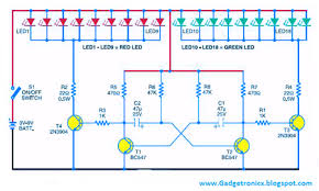 six simple led lighting circuit for christmas gadgetronicx led christmas lights using transistors