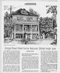 Article on Gorge Road home Victoria Times Colonist 2 Oct 1933 p. 4 -  Newspapers.com