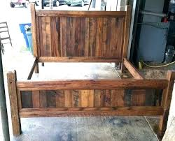 Rustic Bed Frames Country Bed Frames Style Traditional Wooden Bed ...