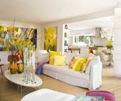 Living Room Decorate Airy Living Room Decorating Ideas With White Couch And Colorful