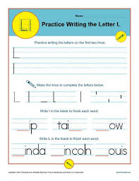 letters practice sheet letter l worksheets printable handwriting worksheet