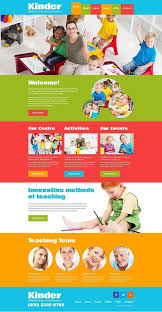 Kids School Website Template Kids Center Responsive Website Template Website Template