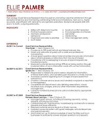 Guest Service Representative Resume Sample My Perfect Resume