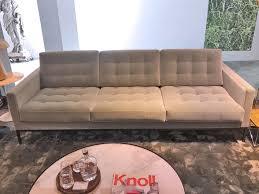 knoll florence knoll sofa light green