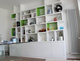 Wall Units, Glamorous White Built In Bookshelves White Bookcase With Doors  White Shelves: amazing