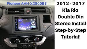 2012 2017 kia rio bluetooth stereo install pioneer avh x2800bs 2012 2017 kia rio bluetooth stereo install pioneer avh x2800bs