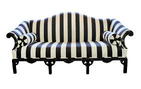 Elegant Black and White Striped Couch