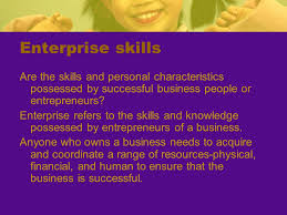 skills possessed enterprise skills are you enterprising ppt download