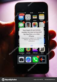 Apple Phone Number Apple Iphone Xs With Facetime Notification Stock Editorial