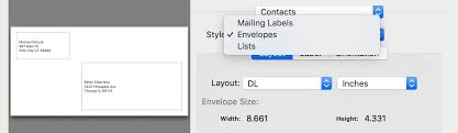 How To Print Contact Info To Envelopes Lists And Labels On