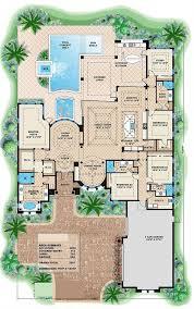 mediterranean house plans. 175-1086: Floor Plan Main Level Mediterranean House Plans