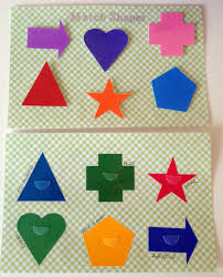 project no sew toddler quiet book page idea match shapes