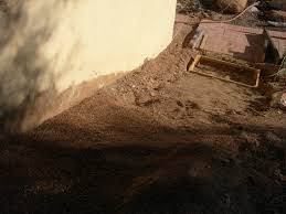 patio steps pea size x: sunday afternoon we were able to build four steps working together the pea gravel goes on top of the compacted dirt in the hole where four  x  x