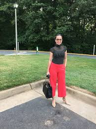 zara woman combined office. Woman Wearing Black Polka Dot Turtle Neck Zara Top, Red Express Culottes, Nude Sam Combined Office