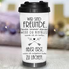 Thermobecher Konisch Wir Sind Freundespruch Wandtattoo Loft