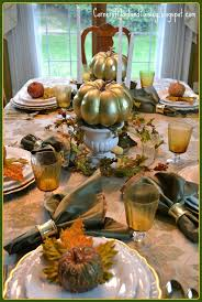 Fall Table Scapes Corner Of Plaid And Paisley White And Gold Fall Tablescape